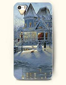 SevenArc iPhone 5 5s Case - House In The Snowfield Snowman