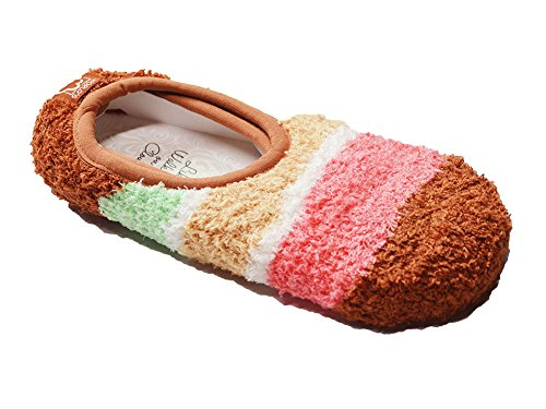 Gingerbread Stripes - World's Softest Womens Soft Knit Gallery Crew Socks, One Size, Gingerbread Stripe