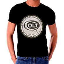 Old Tin Sign T Shirt COLT FIREARMS OLD LOGO 1800S