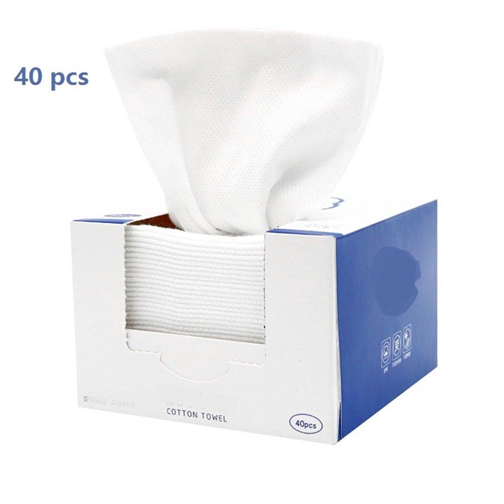 Makeup Tragbare Reise Kosmetiktücher Weiche Vliesstoffe Weiß Kosmetik Make-up Gesichtsreinigung Entferner Pads Handtuch Tücher (Appr.40pcs) FGVBHTR