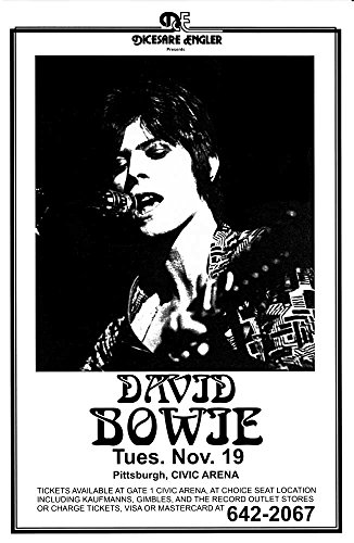 David Bowie at Civic Arena Retro Art Print — Poster Size — Print of Retro Concert Poster — Features David Bowie in Concert.