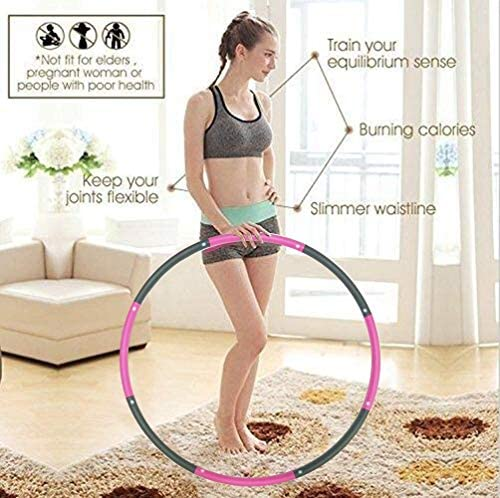 REDSEASONS Exercise Hoop for Adults,Lose Weight Fast by Fun Way to Workout,Easy to Spin, Premium Quality and Soft Padding Exercise Hoop,with Free Accessory Skipping Rope 4