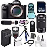 Sony Alpha a7S II a7S Mark II a7SII ILCE7SM2/B Mirrorless Digital Camera (International Model no Warranty) + Sony E 55-210mm f/4.5-6.3 OSS E-Mount Lens (Black) + 49mm Filter Kit 6AVE Bundle 108