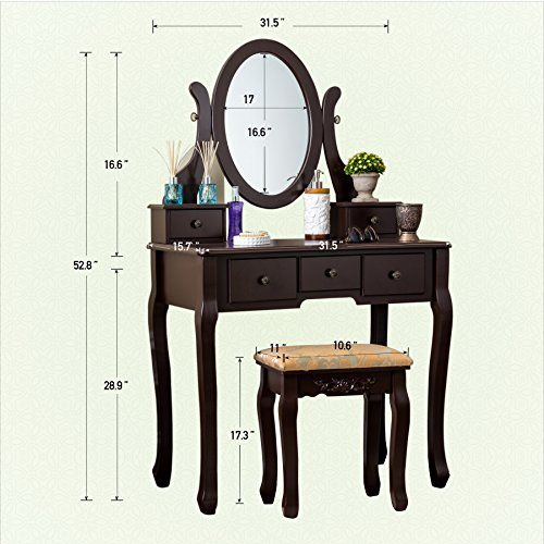 Fineboard Hfb Vt07 Bn Single Mirror Dressing Set Five