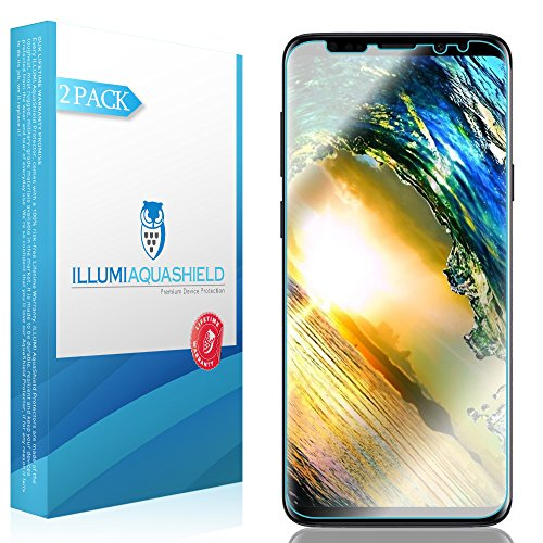 Durable Surface Finish (Galaxy S9 Screen Protector [2-Pack], ILLUMI AquaShield HD Clear Anti-Bubble Film Screen Protector for Galaxy S9 (Case Friendly Compatible))