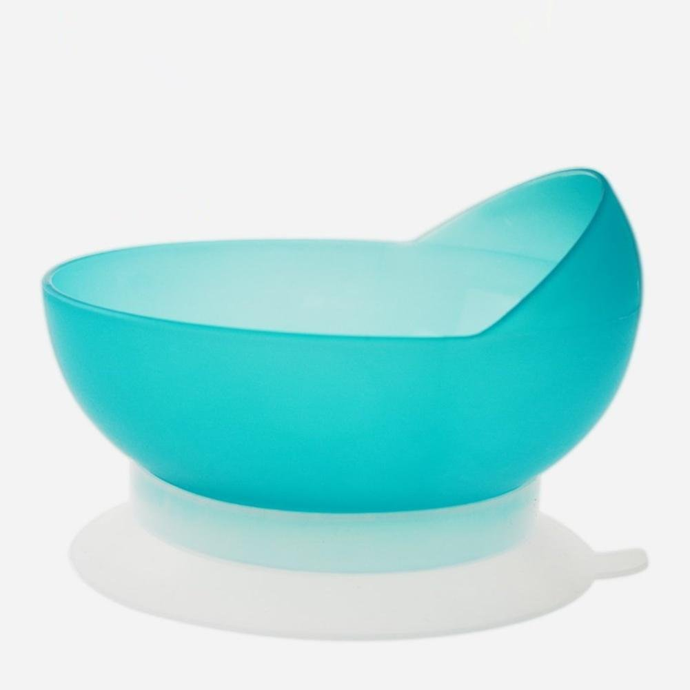 LUCKYYAN PP Plastic Anti-shift Bowl for Stroke Hemiplegia Patients and Disabilities , Elderly Dine Assistive Tableware with Strong Suction Cup Base,13×10cm, Sky Blue