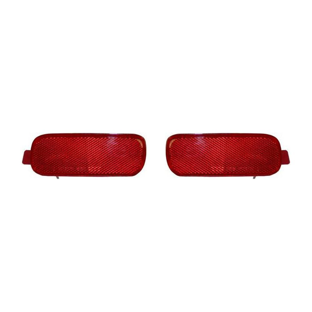 Bumper Reflector for Honda CR-V 02-04 Rear Right and Left Side Set of 2 by Evan Fischer