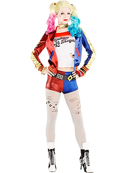 Amazon.com: Disfraz de Joker Harley Quinn para adulto, de la ...