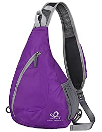 WATERFLY Sling Shoulder Bag One Strap Backpack Chest Pack Crossbody Bags Sport Rucksack Small Packsack for Women Men Camping Gym Cycling Biking School Hiking