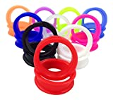 -10 PAIR SET - Soft Silicone Ear Tunnels Plugs Gauges Earlets - up to size 50mm! (2'' (50mm))