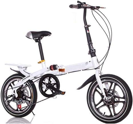 GOUTUIZI Bicicletas Plegables, Bicicleta Plegable de Bicicleta de ...