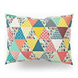 Society6 Llama Geo Triangles Pillow Sham Standard (20'' x 26'') Set of 2