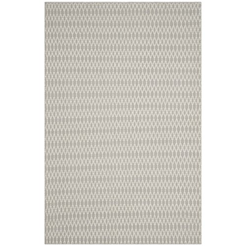 Safavieh Oasis Collection OAS432A Grey and Ivory Area Rug, 6' x 9'