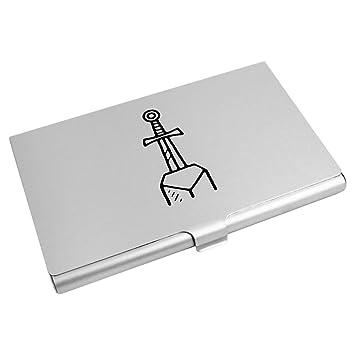Azeeda Schwert Im Stein Visitenkartenhalter Kreditkarte