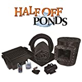 """HALF OFF PONDS - Simply Ponds 4000 Water Garden and Pond Kit with 10"""" Skimmer, 16"""" Waterfall, 4,000 GPH Pump, 15 Foot x 20 Foot EPDM Liner - MAN3"""
