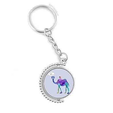 DIYthinker Púrpura del pájaro Azul de la Historieta Camello ...