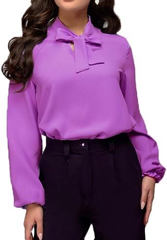 Mujeres Tops Camisetas de Manga Larga Blouses Casual Colores Lisos Blusa T-Shirt Camisas con Vendaje, Nuevo Primavera y Otoño: Amazon.es: Ropa y accesorios