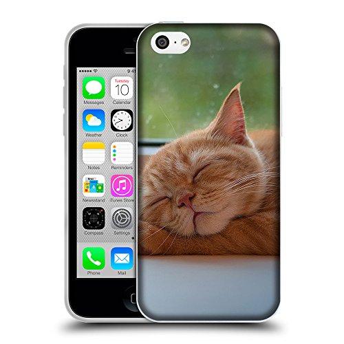 Just Phone Cases Coque de Protection TPU Silicone Case pour // V00004288 chaton mignon pattes sur slleping // Apple iPhone 5C