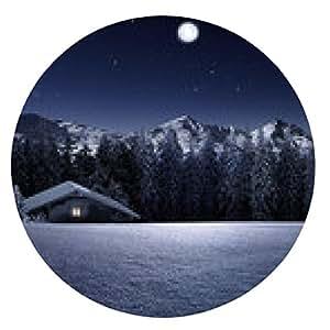 alfombrilla de ratón Schihütte luz de la luna - ronda - 20cm