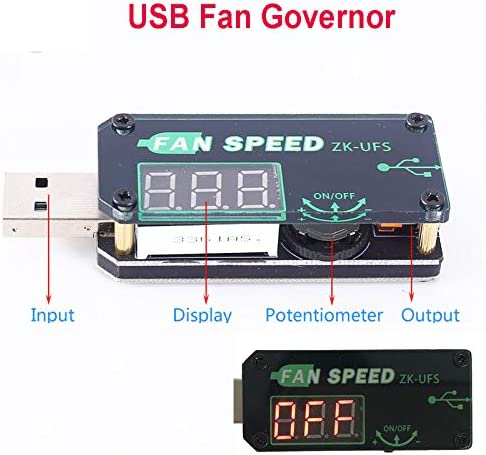 5V 5W USB Fan Governor Timer LED Dimming Module Voltage Adjustable Speed Controller with Shell for Office Car Student Dormitory