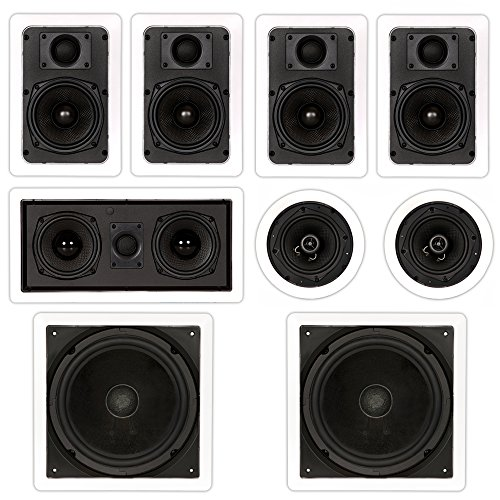 Theater Solutions TST57 in Wall and in Ceiling 1700W Home Theater 7.2 Speaker System