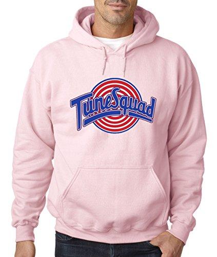 New Way 487 - Hoodie Tune Squad Space Jam Basketball Team Unisex Pullover Sweatshirt Medium Light Pink -