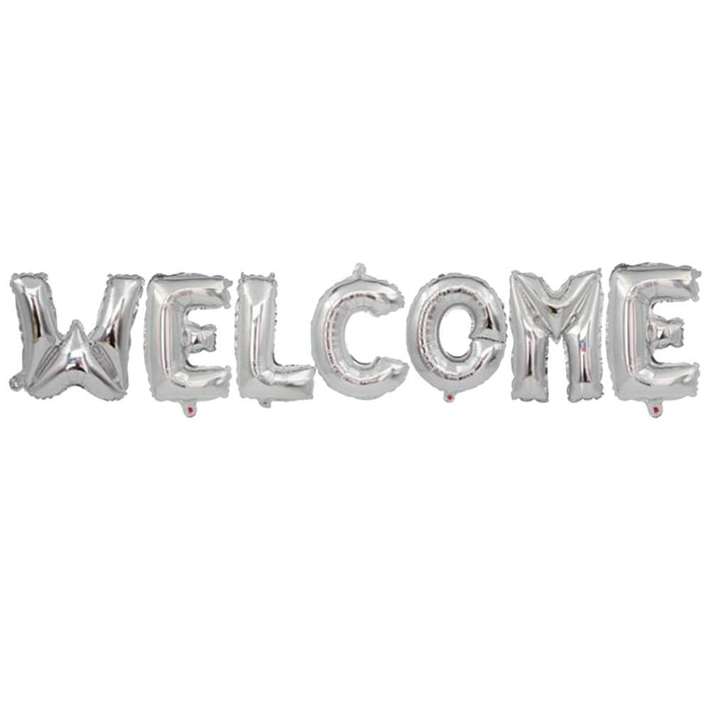 BAOCENG Welcome Letter Balloon Set Foil Balloons Party Decoration Balloon for Birthday Party 4Sets