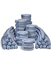 """New Pig Blue Absorbent Sock, Heavy Sock to Form Barrier & Prevent Spills from Spreading, 95 oz Absorbency, 3"""" Diam x 48"""" L, (40 Socks), 4048"""