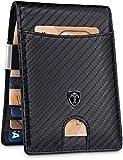 "TRAVANDO Money Clip Wallet""RIO"" Mens Wallet Front Pocket Wallet Slim Wallet RFID Blocking - Credit Card Holder - Minimalist Mini Bifold Gifts for Men (Carbon): more info"