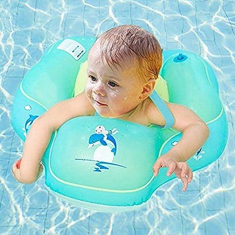 Flotador de la piscina del bebé, Emsems Cámaras de inflado inflables inflables dobles Anillo de