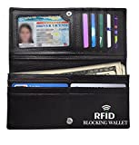 RFID Blocking Wallet, Women RFID Blocking Synthetic Leather Bifold Change Wallet Clutch