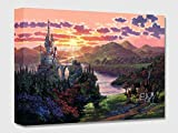 The Beauty in Beast's Kingdom - Treasures on Canvas - Disney Fine Art Beauty and the Beast Castle Gallery Wrapped Canvas Wall Art by Rodel Gonzalez