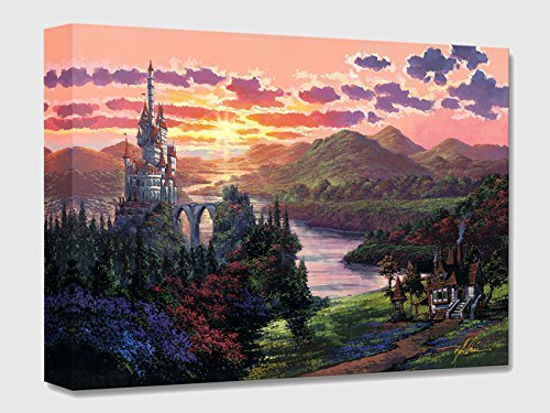 The Beauty in Beast's Kingdom - Treasures on Canvas - Disney Fine Art Beauty and the Beast Castle Gallery Wrapped Canvas Wall Art by Rodel Gonzalez (Beauty And The Beast Painting)
