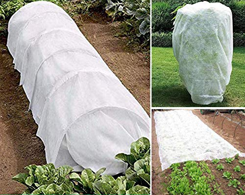 Harrms Plant Cover Freeze Protection for Winter, 1.58oz 3FT to 50FT Reusable Plant Covers for Winter Frost Freeze Protection&Animal Protection(7.21FT x 32.8FT)