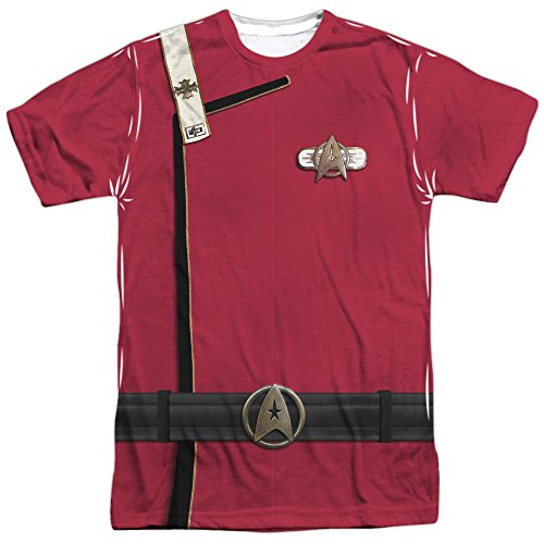 [Star Trek- Admiral Kirk Uniform Costume Tee (Front/Back) T-Shirt Size L] (Star Trek Uniform Shirts)