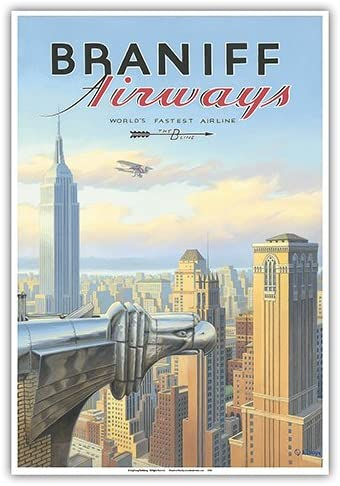 Chrysler Building New York City Vintage Poster Reproduction