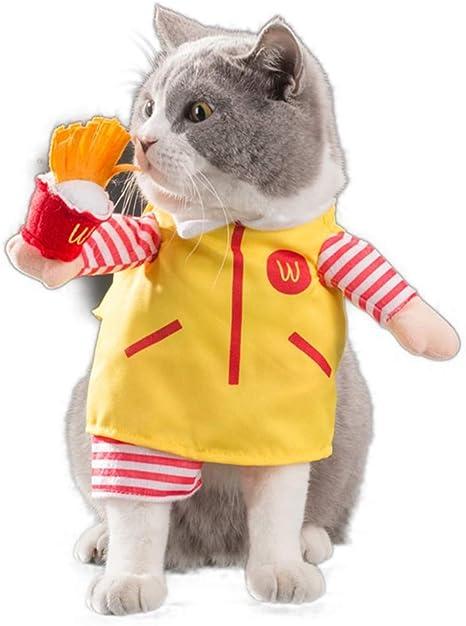 JBPX Tío Mcdonald Disfraz para Mascotas Ropa para Gatos Ropa para ...
