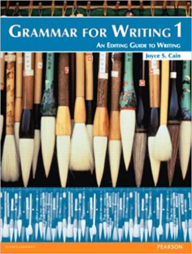 Grammar for Writing 1 (2nd Edition): Joyce S. Cain ...