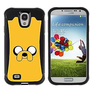 Suave TPU GEL Carcasa Funda Silicona Blando Estuche Caso de protección (para) Samsung Galaxy S4 IV I9500 / CECELL Phone case / / yellow cartoon comic character eyes dog /