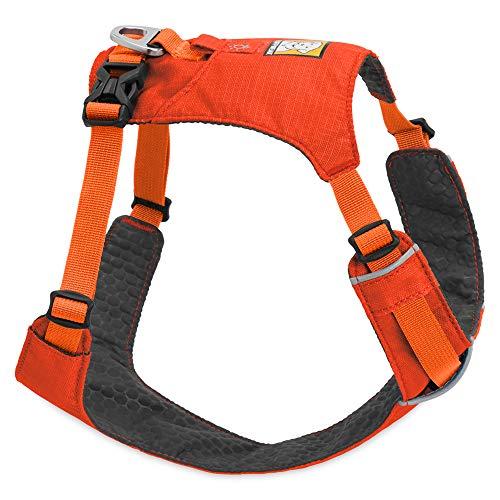 Web Wear Ruff - RUFFWEAR Lightweight Dog Harness, Large to Very Large Breeds, Adjustable Fit, Size: Large/X-Large, Sockeye Red, Hi & Light Harness, 3082-601LL1