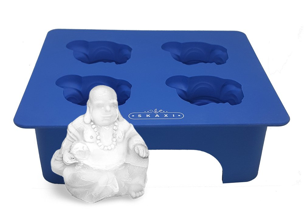Skaxi 3D Laughing Buddha Silicone Mold, Novelty Ice Cube Mold, Silicone Molds for Baking SKKT0002