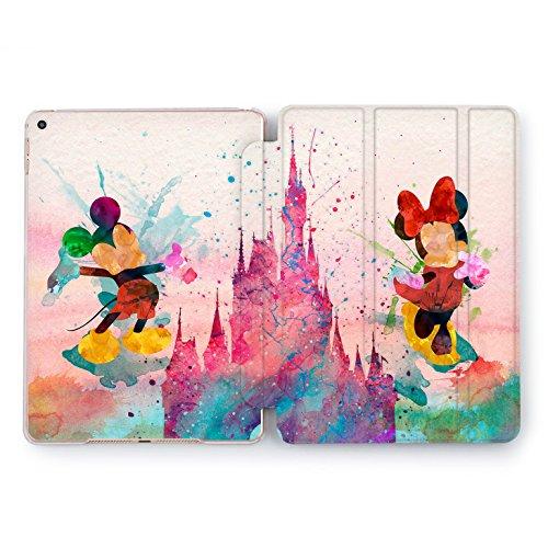 Wonder Wild Mickey and Minnie Print Case IPad 9.7 2017 A1822 A1823 2018 A1893 A1954 Air 2 A1566 A1567 6th Gen Clear Design Smart Hard Cover Cartoon Walter Disney Mouse Fairy Tale Magic Colorful ()