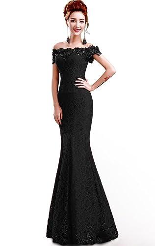 Babyonline®2016 off shoulder lace red Mermaid Evening Formal Bridesmaid dress