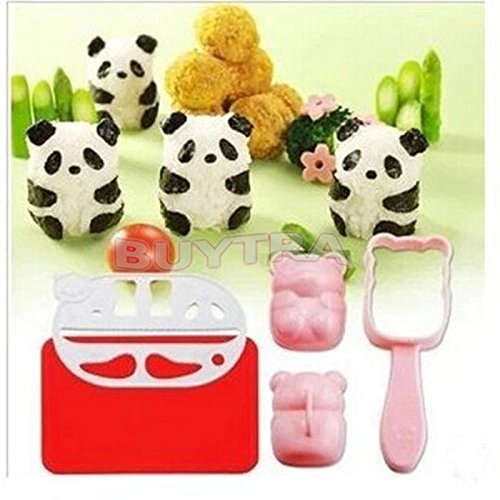 New High Quality Food Mould/lovely Cute Panda Shape Rice Mould/novetly Kids Favourite Sushi Mould YingYing Supplies
