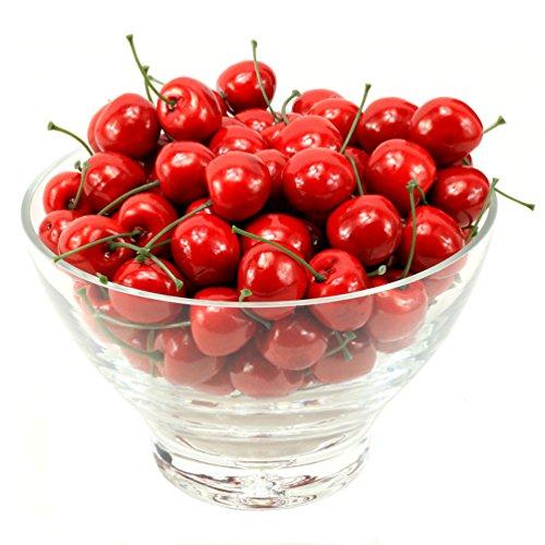 MyLifeUNIT Artificial Cherry Fruit, Artificial Fruit for Decoration, 100 PCS by MyLifeUNIT