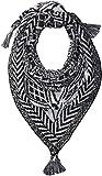 Collection XIIX Women's Border Pattern Knit Bandana, Black, One Size