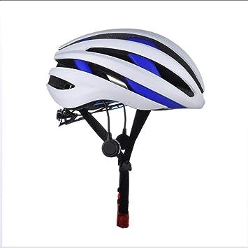 Bicicleta Casco Incorporado Micrófono Bluetooth Altavoz LED Luz ...