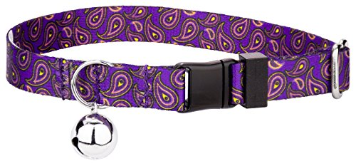 Country Brook Petz | Purple Paisley Featherweight Cat Collar - Paisley Cat Collar