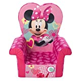 Marshmallow Furniture Children's Foam High Back Chair, Disney's Minnie Mouse High Back Chair