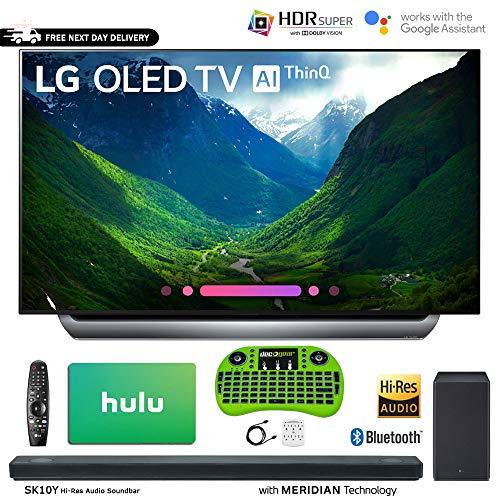 LG C8 OLED 4K HDR AI Smart TV (2018 Model) + LG SK10Y 5.1.2-Channel Hi-Res Audio Soundbar Dolby Atmos + Hulu $100 Gift Card (55″ OLED55C8)